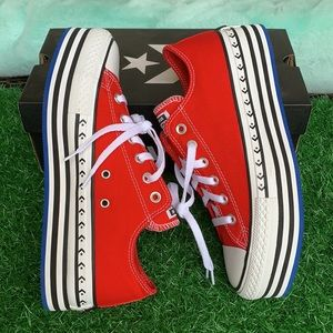 CONVERSE CTAS LAYER OX UNIVERSITY RED/WHITE/BLACK